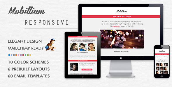 Mobillium responsive mailchimp ready email newsletter by for Cool mailchimp templates