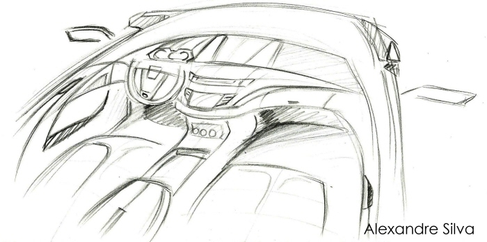 interior sketch car by alexandre felipe ribeiro da silva