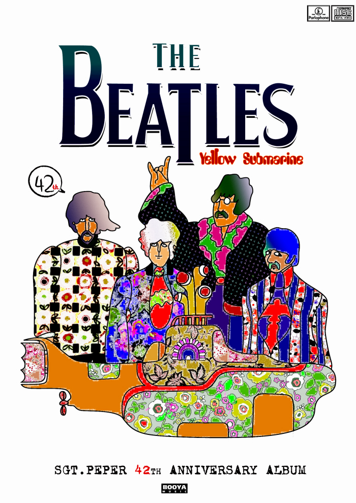 Beatles Poster Yellow Submarine Poster For Beatles Yellow