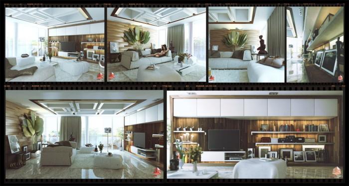 Interior design mrs luki kemang village jakarta by for Apartment design jakarta