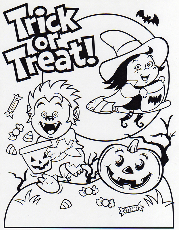 Seasonal Illustration By James Harmon At Coroflot Com Trick Or Treat Coloring Page