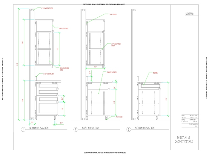 Cad Detail Drawing Of Kitchen Cabinets By Dashawn Wilson At