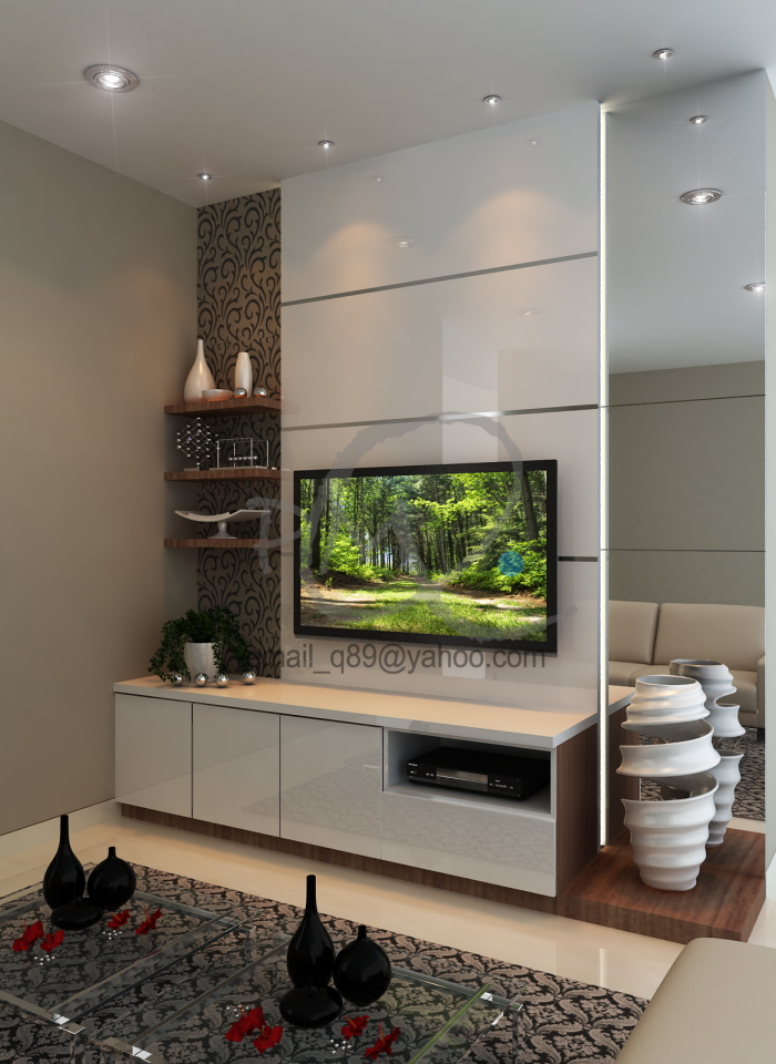 Pleasing Backwall Tv By Pmq Interior Design At Coroflot Com Largest Home Design Picture Inspirations Pitcheantrous