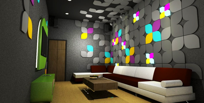 Home karaoke room cilegon indonesia by sianne juliana for Karaoke room design ideas