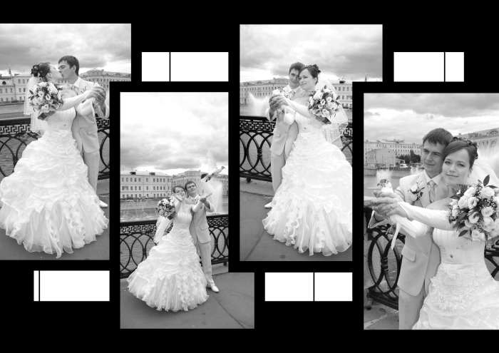 Wedding collages by Leila Ismailova at Coroflot.com