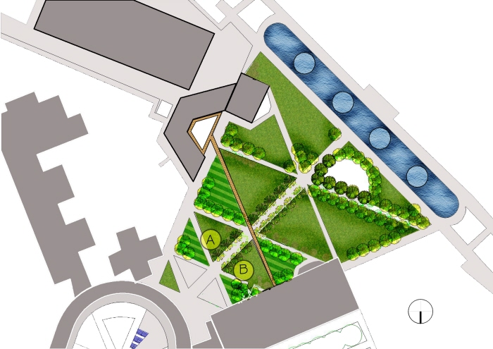 Triangular garden by ahmad habiibur rahim at for Garden designs for triangular gardens