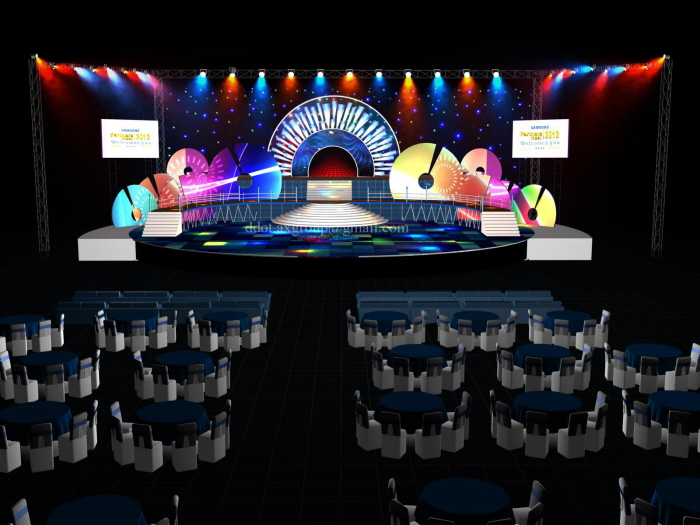 3d Stage Design by Rakesh