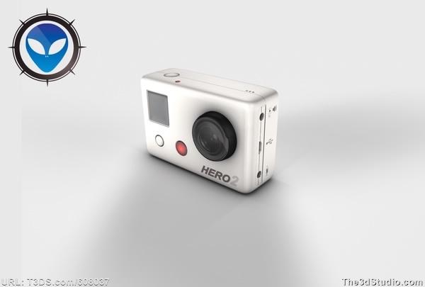 raphaelparentes D Model GoPro Hero  Camera