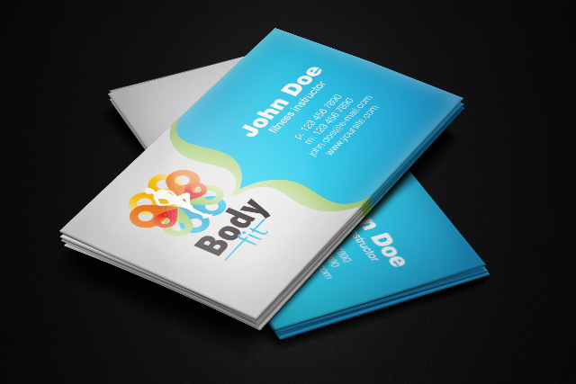 Fitness Instructor Free Business Card Template By Borce Markoski - Personal trainer business cards templates
