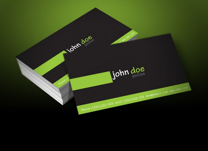 Free Personal Business Card Template By Borce Markoski At Coroflotcom - Personal business cards templates