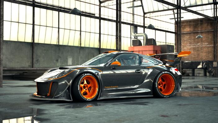 Monster Porsche Hurricane Concept Design