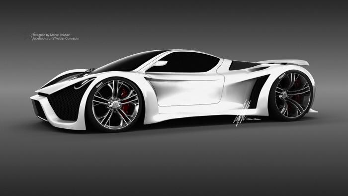 Monster Porsche Hurricane Concept Design: Pagani Thawra By Maher Thebian At Coroflot.com