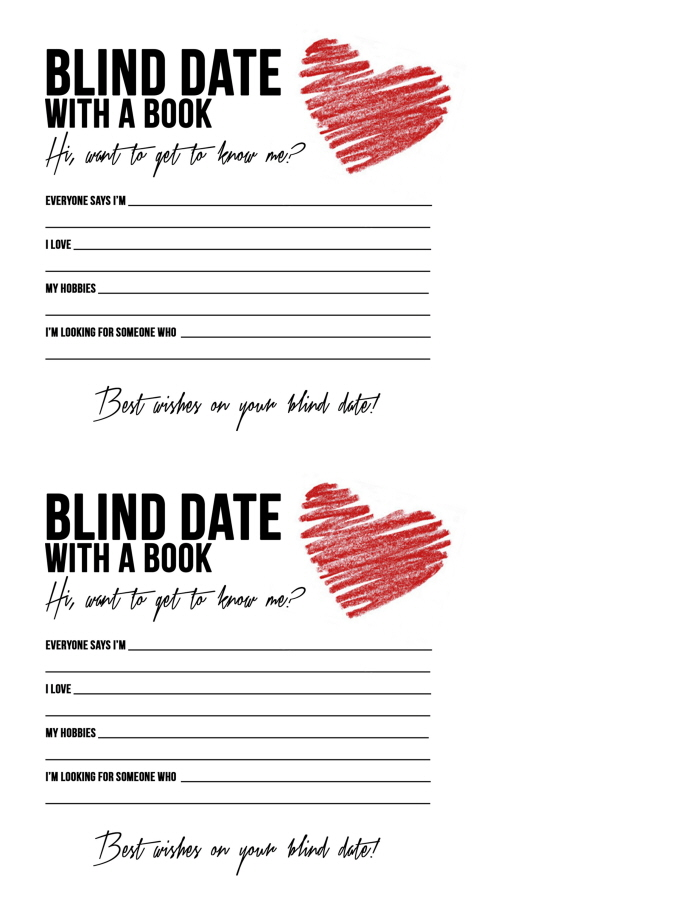 Blind Date With A Book by Sara Cook at Coroflot.com