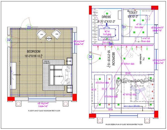 False Ceiling Plan Elevation Section : Residence fusion theme by rachana palakurthi at coroflot