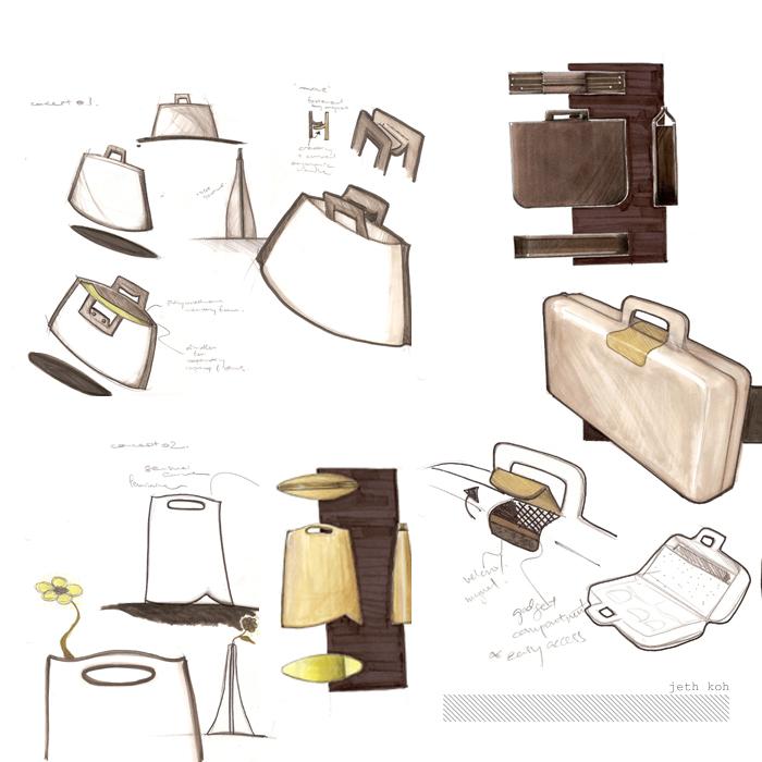 laptop bag singapore. Laptop bag concept sketches