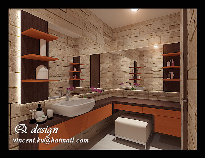 Mrs rosi 39 s modern javanese master bedroom dan dressing for Bathroom designs with dressing area