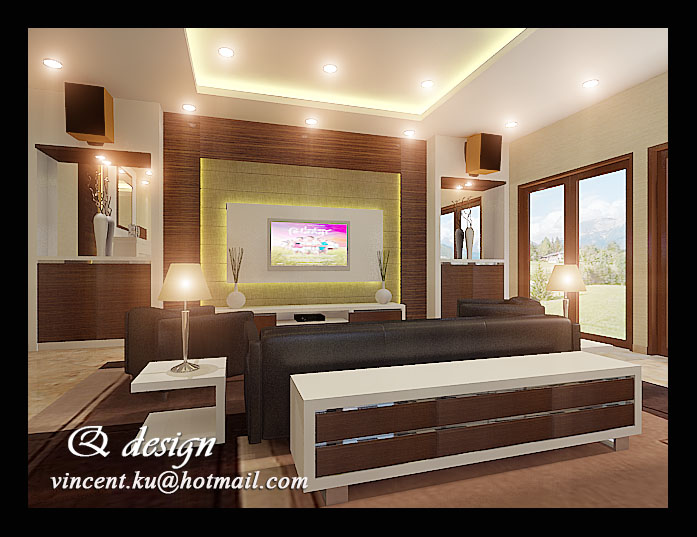 Mr tommy 39 s living and karaoke room interior design by for Karaoke room design ideas