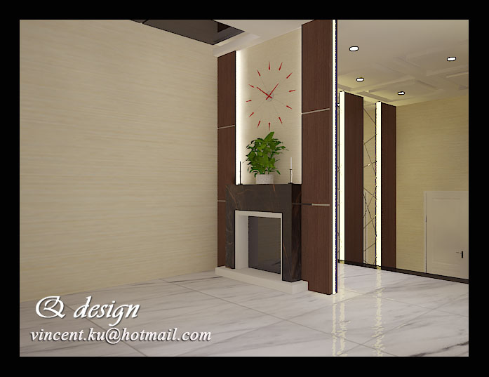 Mr Aliong's Foyer Interior Design (Wall Panel and Divider) by Vincent  Kurniawan at Coroflot.com