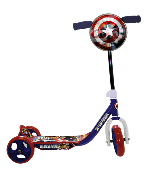Marvels Captain America 3 Wheeled Scooter By Elijah