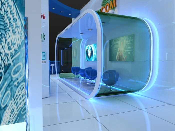 Exhibition Stand Design Qatar : Hight technology exhibition design dvcom by larah