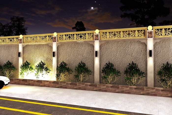 boundary wall design by Israr Ahmed at Coroflot com