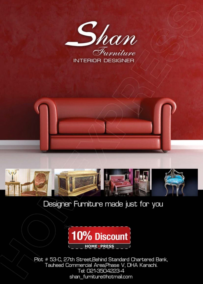 Drawing Room Furniture Design: Shan Furniture House Magazine Ad By Israr Ahmed At