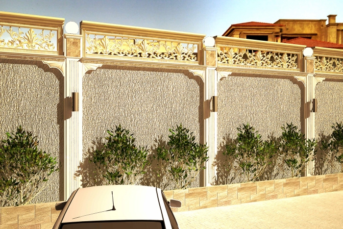 boundary wall design by Israr Ahmed at Coroflotcom