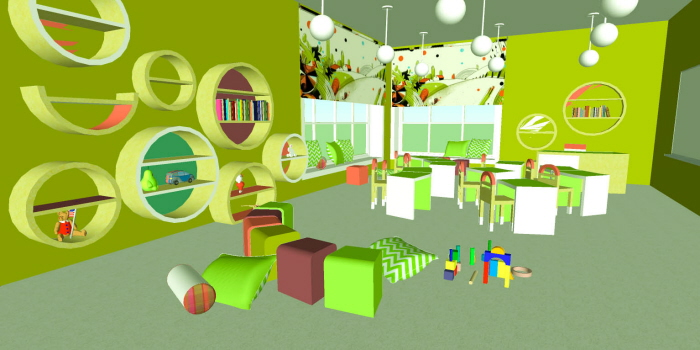 Interior Concept For Kindergarten By Yulia Korovina At Coroflot