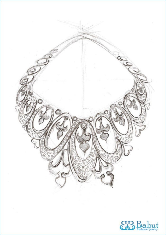 Jewelry Design Line Art : Sketches design jewelry by babut florin valentin at