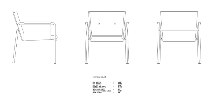 chair design drawing. Nouvelle Lounge Chair - Design Drawing. Autocad Drawing