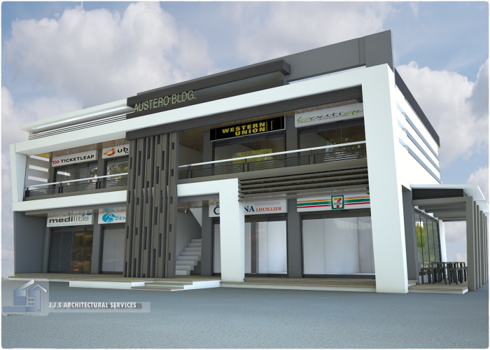 2 storey 8 units commercial building by j j s for 3 storey commercial building design