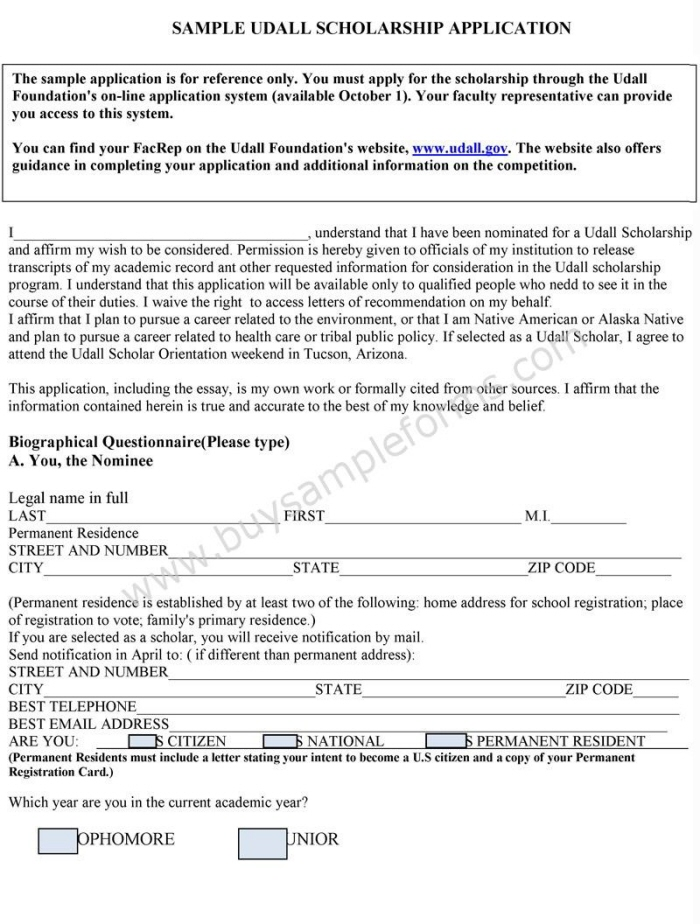 Scholarship Application Form Template By Jasmine Everett At CoroflotCom