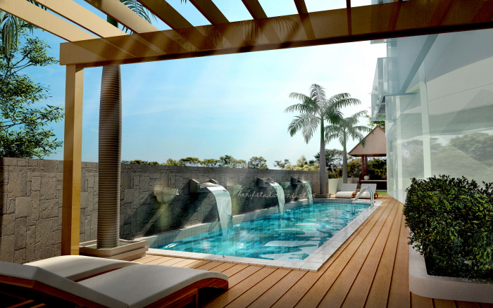 3d rendering by hanif kassim at for Pool design sketchup