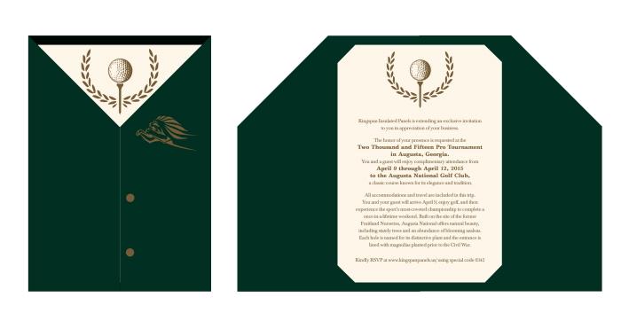 Kingspan Masters Invitation by Chelsea Desrosiers at Coroflotcom