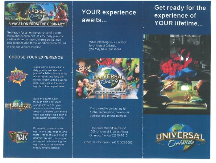 Universal Orlando Resort Brochure By David Qui 241 Ones At Coroflot Com