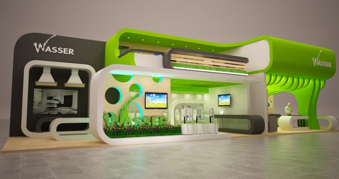 Exhibition Booth Concept : Indobuiltech wasser concept booth by dodo kuprut at