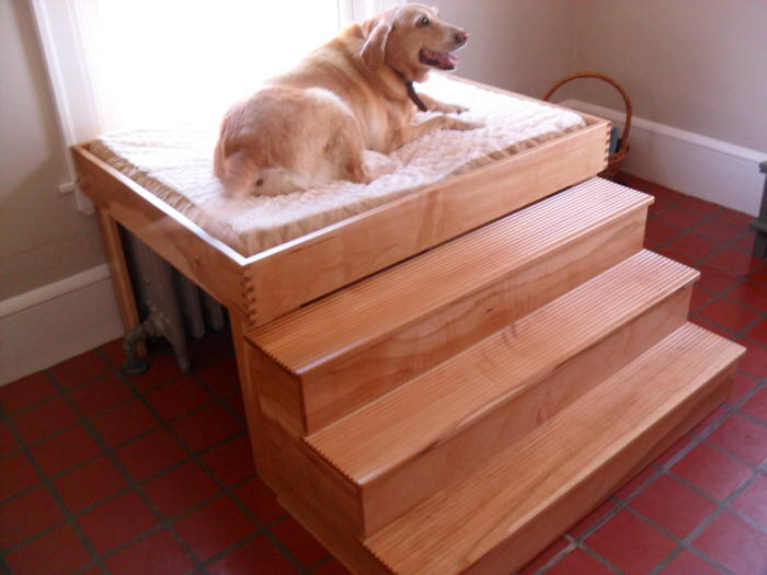 Diy Elevated Dog Bed With Steps