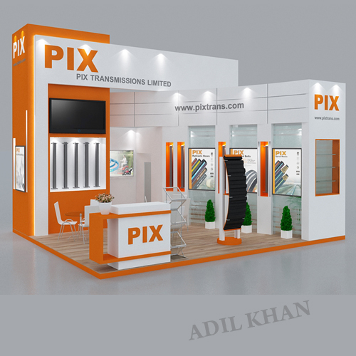 D Exhibition Stall Design : D stall design and interior by adil khan at
