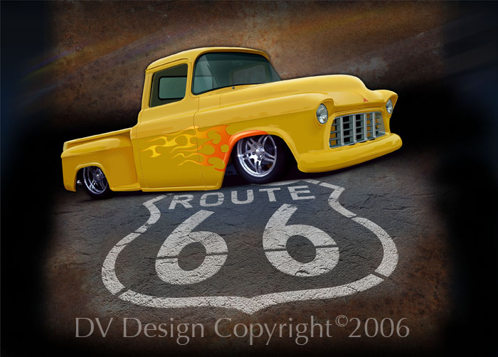 Custom Hot Rod 55 Chevy truck