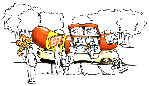 courtweek also Brand Strategy as well Brand Strategy likewise  furthermore Oscarmayer collectables items For sale page01. on oscar mayer wienermobile store display