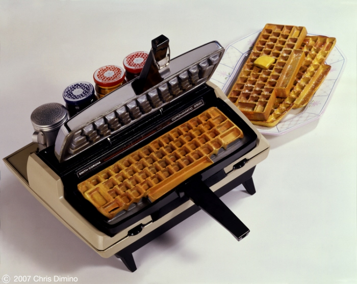 Typewriter waffle iron via 1 Design Per Day