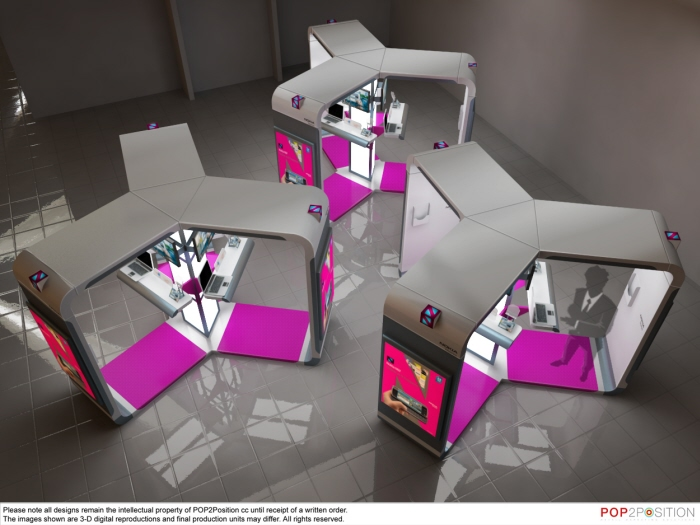 Exhibition Display Units : Point of sale display stands by germaner product design