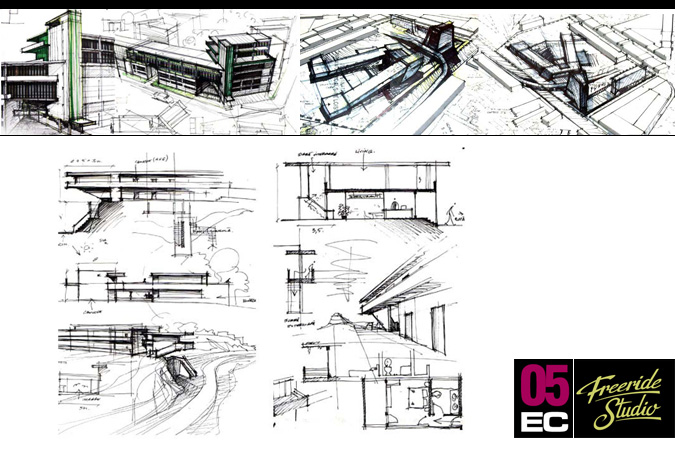 Perfect Architecture Design Concept Sketches R Throughout Ideas