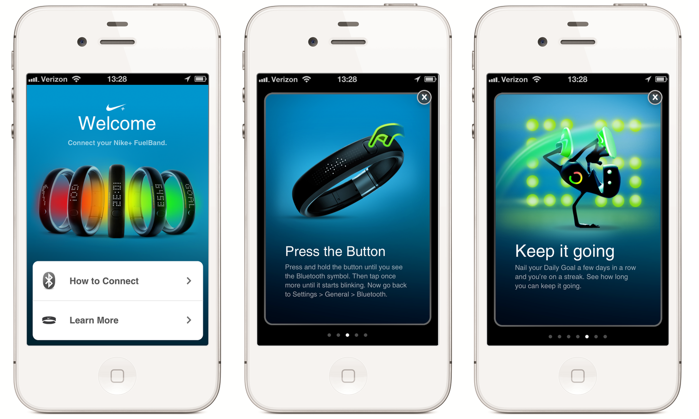 Nike Plus FuelBand App by Stephen Kob at Coroflot.com