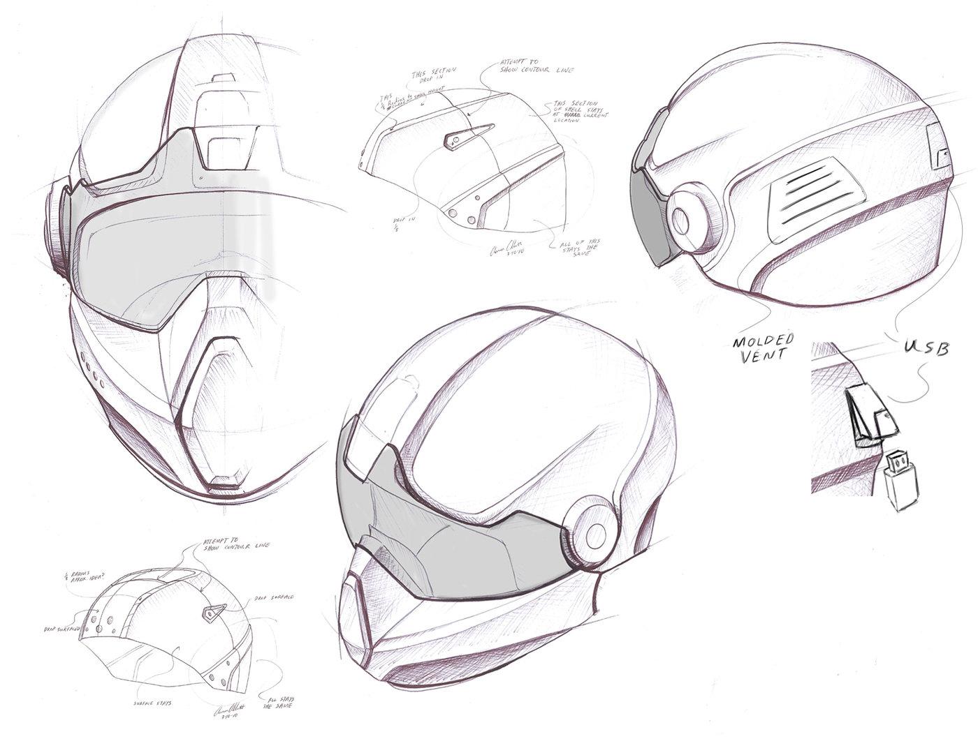 Fighter Pilot Motorcycle Helmet Helmet Designs by Aaro...