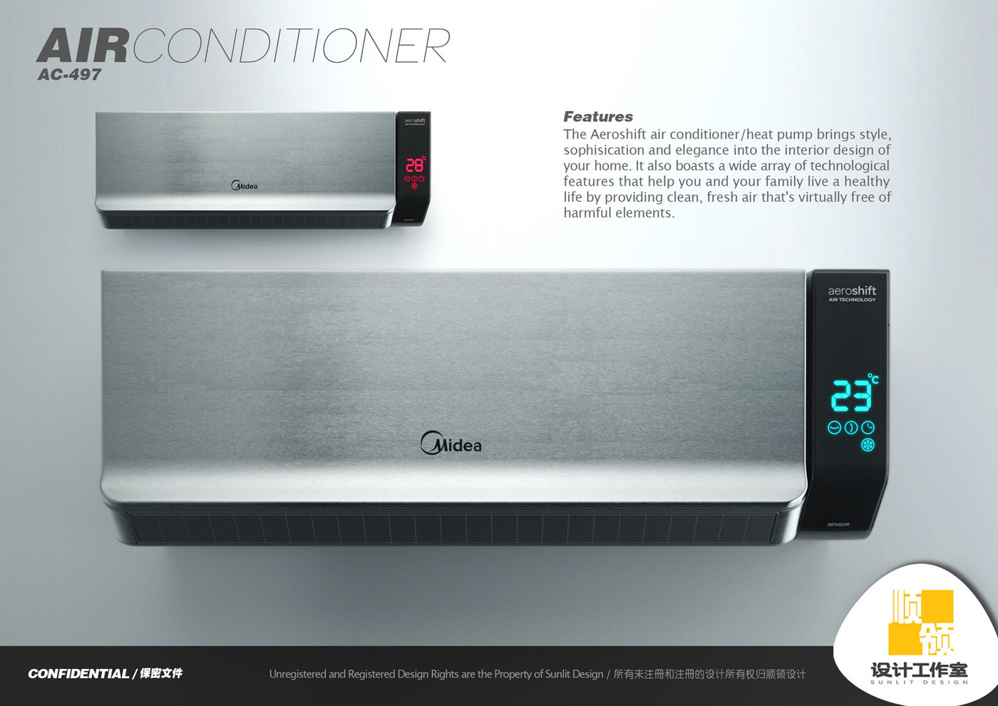 Midea Air Conditioner by Hugo Cailleton at Coroflot.com