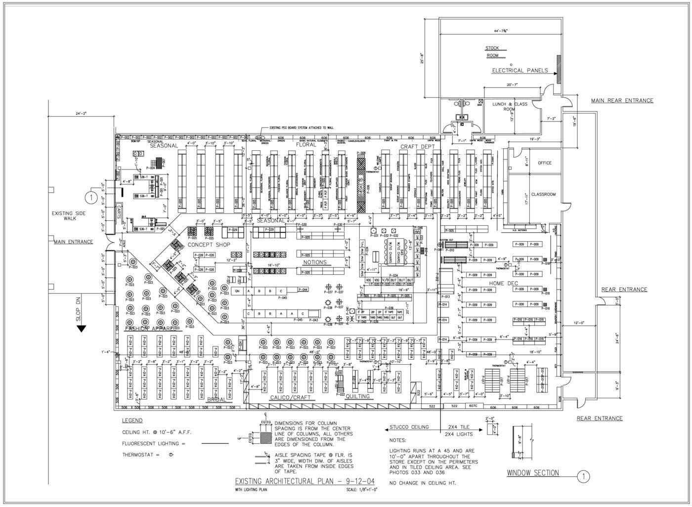 Beautiful Retail Floor Plan