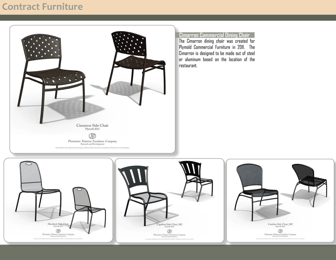 Contract Patio Furniture   Solidworks Renderings Of Contract Patio Chairs  Developed For Plymold In 2011.