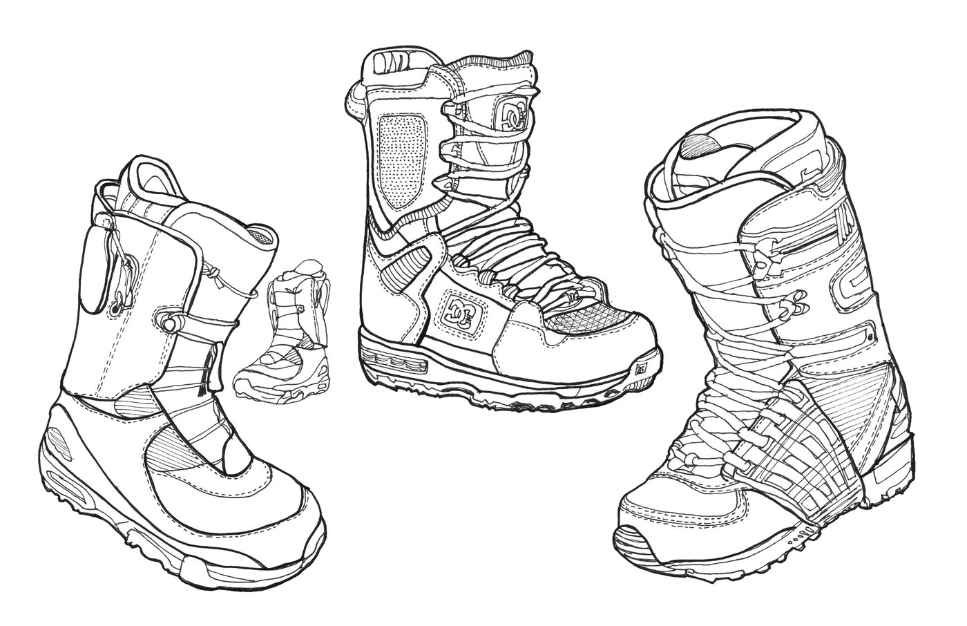how to draw mx boots
