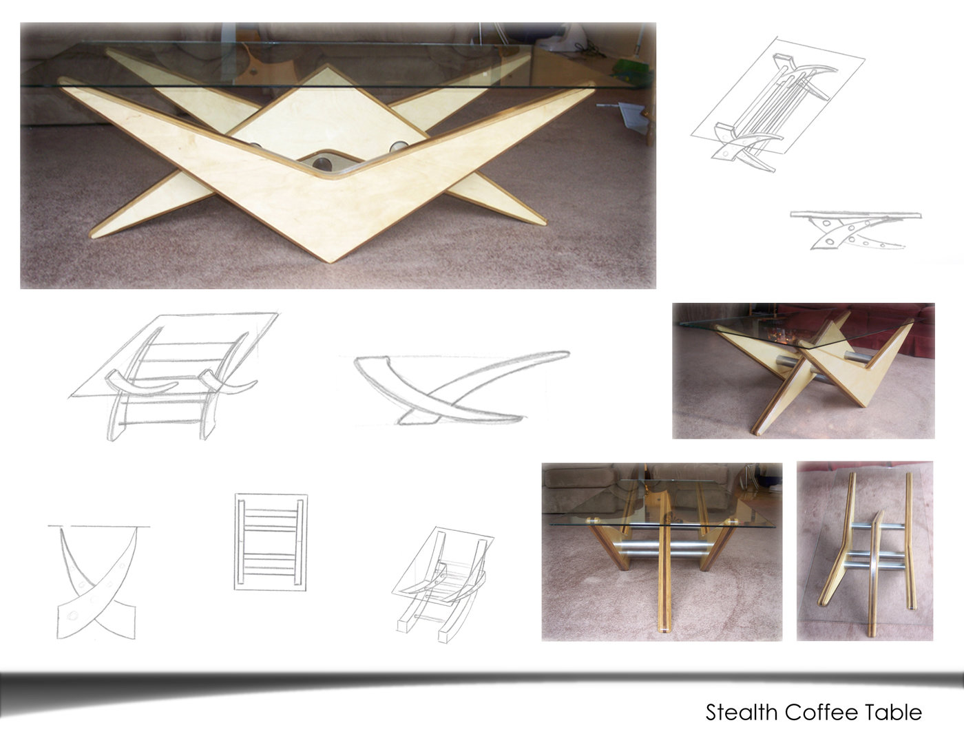 Portfolio by jeffrey michalak at coroflot stealth coffee table sketches and pictures of my coffee table easily made because of the minimization of different parts geotapseo Gallery